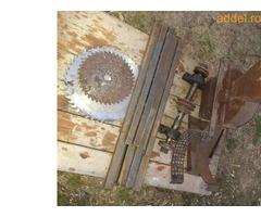 Eladó összeszerelésre előkészített körfűrész (cirkula) és kalapácsmalom asztal tengelyestől - Kép 2