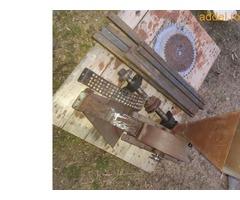 Eladó összeszerelésre előkészített körfűrész (cirkula) és kalapácsmalom asztal tengelyestől - Kép 3